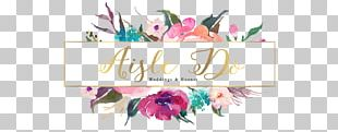 Flower Logo Watercolor Painting Floral Design PNG