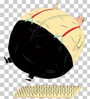 Cartoon Balloon Fat Man PNG