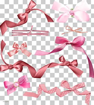 Hair Tie Bow Tie Ribbon Pink M Font PNG