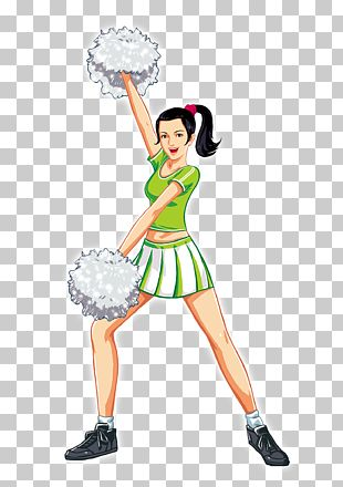Cheerleader Gymnastics Cartoon PNG