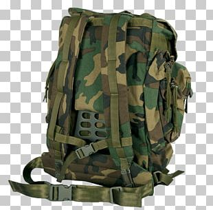 Military Backpack PNG