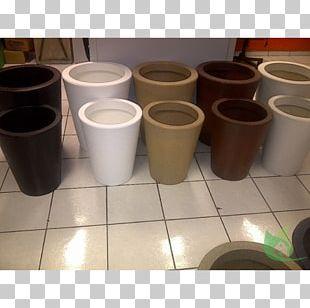 Ceramic Flowerpot Cylinder PNG