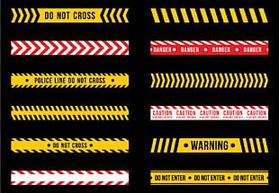 Hazard Barricade Tape Graphic Design Line PNG