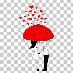 Romance Couple Illustration PNG
