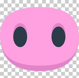 Domestic Pig Nose Emoji Symbol PNG