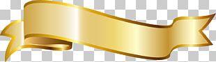 Ribbon Gold PNG