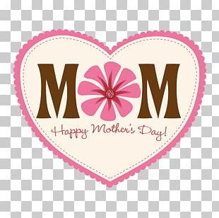 Happy Mothers Day Heart PNG