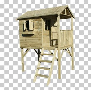 Wood Playground Slide Speeltoestel Tree House Shed PNG