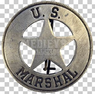 American Frontier Western United States US Deputy Marshal United States Marshals Service Badge PNG