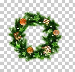 Christmas Santa Claus Garland Holiday Greetings PNG