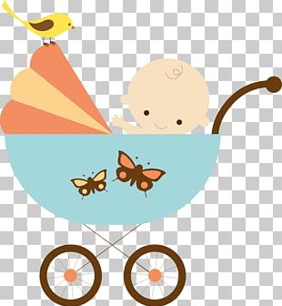 Infant Drawing Shopping Cart Baby Transport Painting PNG