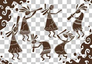 Cartoon Kokopelli Illustration PNG