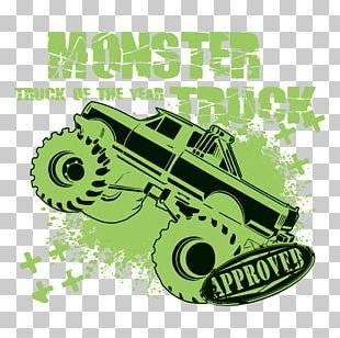 Car Green Monster Monster Truck Poster PNG
