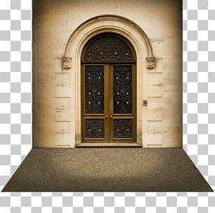 Quadrangular Castle Window Door Arch PNG