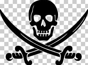 Piracy Jolly Roger Logo PNG