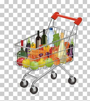 Supermarket Grocery Store Shopping Cart PNG