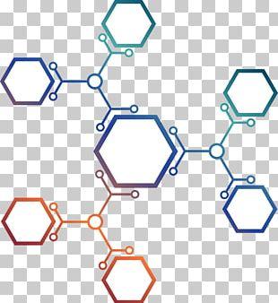 Euclidean Molecule Hexagon PNG