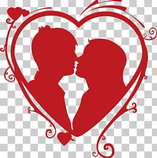 Heart Kiss Couple Love PNG