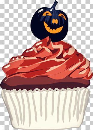 Cupcake Halloween Cake Wedding Invitation PNG
