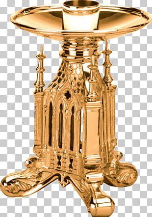 Altar Candlestick Table Altar Candlestick Brass PNG