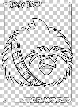Drawing Line Art Angry Birds Star Wars PNG