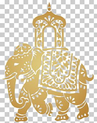 India Elephant Pattern PNG