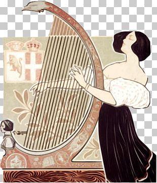 Konghou Harp Guitar Musical Instruments PNG