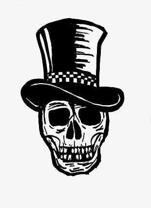 Cartoon Halloween Skull PNG