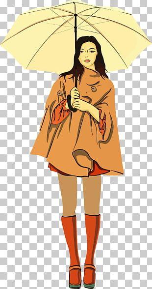 Umbrella Girl Woman Child PNG