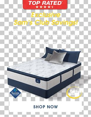 Bed Frame Box-spring Mattress PNG