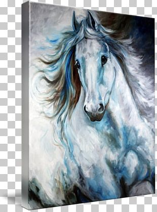 Horse Oil Painting Abstract Art PNG