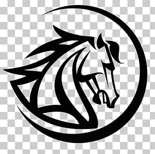 Mustang Stallion Logo Black PNG