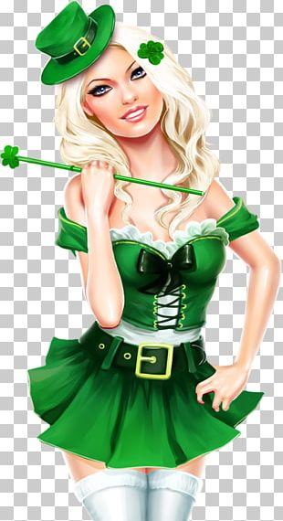 Saint Patrick's Day 17 March Woman Leprechaun PNG