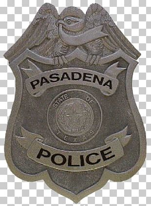 Badge Police Officer Pasadena Police Department Law Enforcement Agency PNG