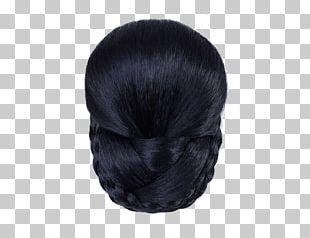 Long Hair Fur Black Hair Wig PNG