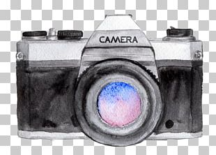 Camera Watercolor Painting Drawing Photographer Photography PNG