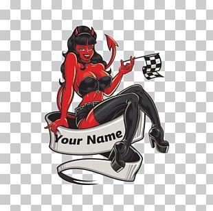 Evil Devil Woman Sticker Satan Decal PNG