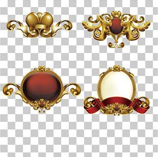 Frame Gold Ornament PNG