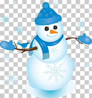 Frosty The Snowman Blue PNG
