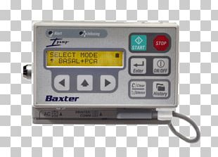 Infusion Pump Intravenous Therapy Baxter International Medical Equipment PNG