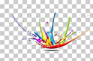 CMYK Color Model Splash Paint PNG