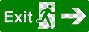 Exit Sign Emergency Exit Safety Signage PNG