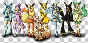 Eevee Pikachu Pokémon Leafeon Glaceon PNG