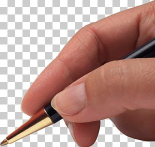 Hand Holding Pen PNG