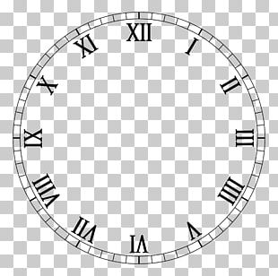 Clock Face Roman Numerals Movement PNG