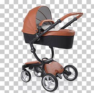 Modern Brown Baby Pram PNG