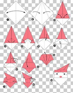 Santa Claus Origami Père Noël Paper Christmas PNG