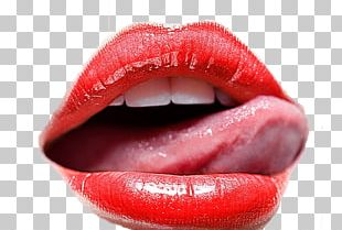 Lipstick Tongue Kiss PNG
