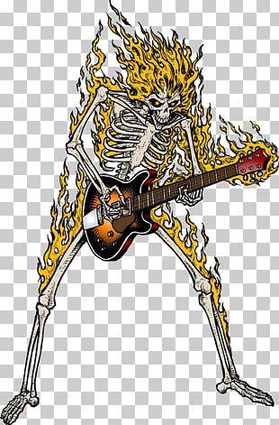 Guitar Skeleton Skull PNG