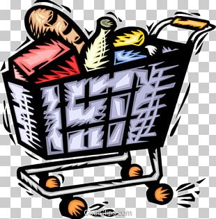 Shopping Cart Grocery Store Bag PNG